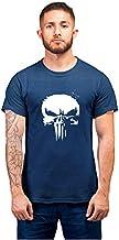 PrintBharat Unisex Punisher Design Half Sleeve Cotton Tshirts