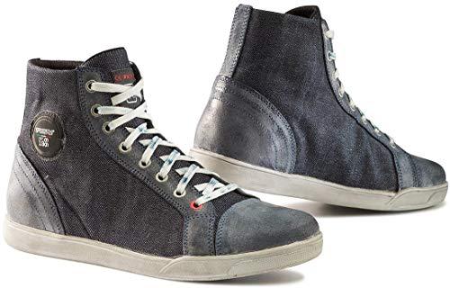 9526 - TCX X-Street Motorcycle Boots 44 Blue Denim (UK 9.5)