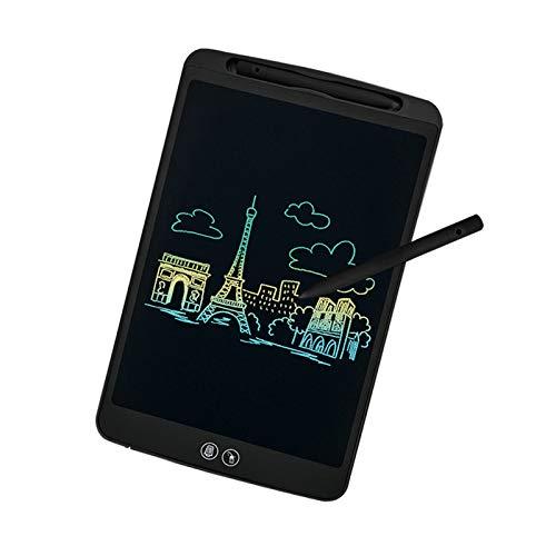 ideasy Upgrade Tablette d'écriture LCD 12 Pouces à Effacement Partiel et Complet, Fonction d'écran de Verrouillage, Bloc d'écriture LCD Kids pour l'école, la Maison et Le Bureau (Noir)