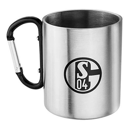 FC Schalke 04 Taza esmaltada (tamaño único), color plateado