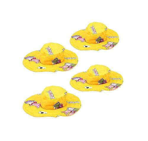 4Pcs Yellow,Reizende Haustier-Topee Tierzubehör Für Kleine Hunde & Katzen