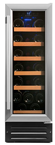 Smith & Hanks 19 Bottle Single Zone Wine Refrigerator, Stainless Steel Door, Built-In or Free Standing