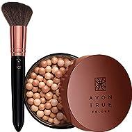Arabian Glow Bronzing Pearls & face brush - Sunkissed Cool shade