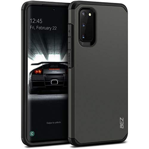 BEZ Hülle für Samsung S20 Hülle, Handyhülle Tasche Stoßfestes Kompatibel für Samsung Galaxy S20, [Heavy Duty Serie] Outdoor Dual Layer Armor Hülle Handy Schutzhülle Robuste, Grau