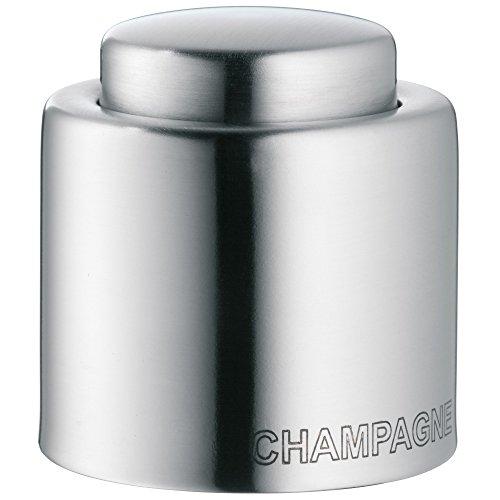 WMF Clever&More Sektverschluss Champagne, Flaschenverschluss, Edelstahl Cromargan mattiert, H 4,7cm, Ø 4 cm