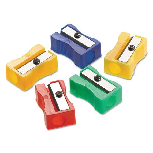 Acme United Plastic Manual Pencil Sharpener - 1 Hole[s] - Plastic - Assorted by Acme United Corporation