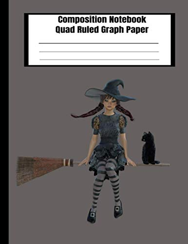 Composition NoteBook Quad Ruled Graph Paper: Halloween graph paper notebook journal squared graphing paper blank quad ruled cover: Banshee_ Witch (halloween package for college students, Band 3)