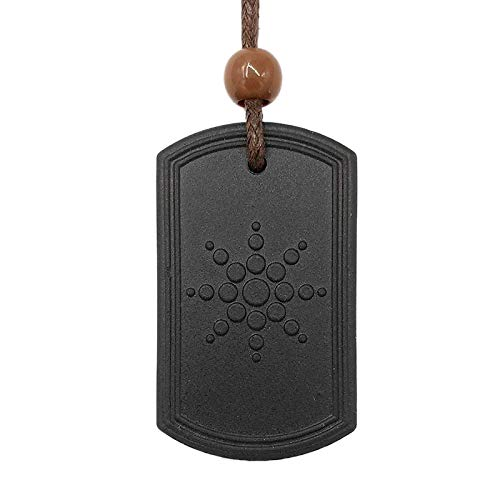SNOWINSPRING Volcanic Rocks Pendant Necklace Anti EMF Radiation Pendant Energy Scalar Quantum Bio Science Negative Ions