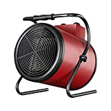 WILLQ Calefactor Electrico Mini Calentador Aire Caliente 3000 W Termostato Ajustable Asa de Transporte 5 Modos de Funcionamiento Aplicar para Oficina Cuarto