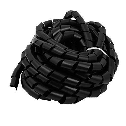X-DREE 10M de longitud 28 mm de diámetro Cable flexible Wrap Cable...