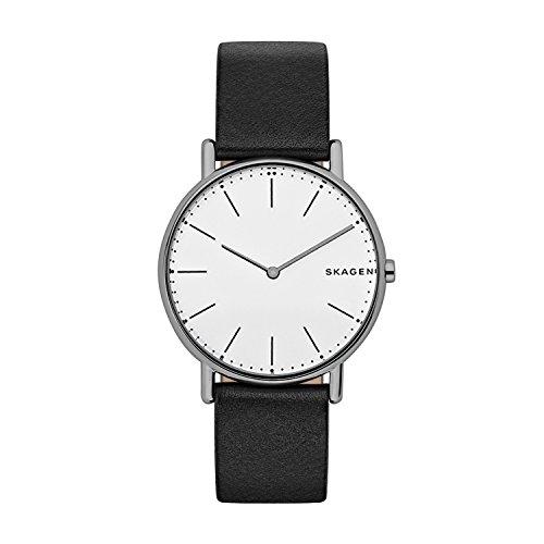 Skagen Herren Quarz Uhr mit Leder Armband SKW6419