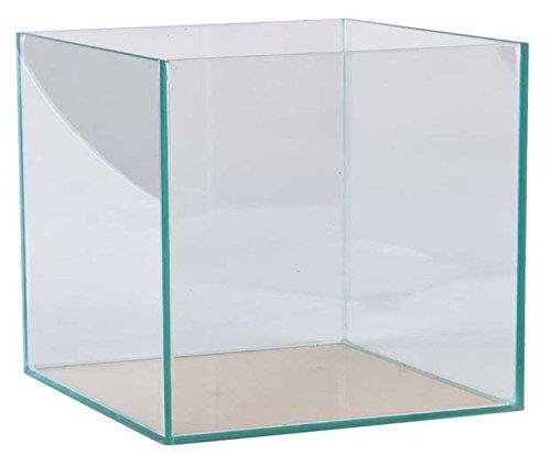 FavoPet 64 Liter Glasaquarium Würfel 40x40x40 cm Glasbecken Nano Cube Aquarium transparent verklebt