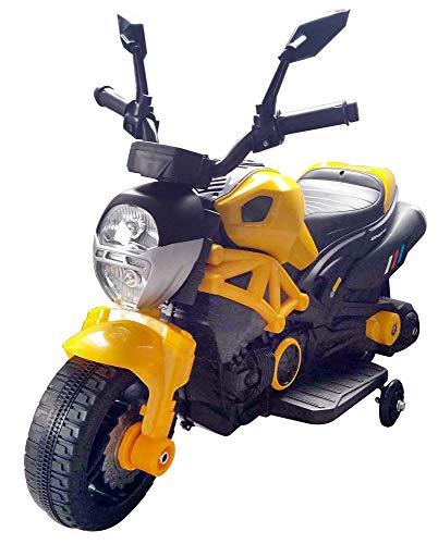 kid go Moto Motocicletta Elettrica per Bambini 6V Hunter Gialla