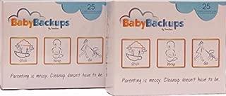 BabyBackups Diaper Extender Pads, 50 Pack - Prevent Diaper Blowouts