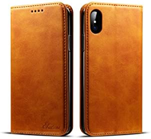 iPhone X Case Wallet TACOO Leather Slim Fit Durable Fold Card Money Holder Magnet Adsorption product image
