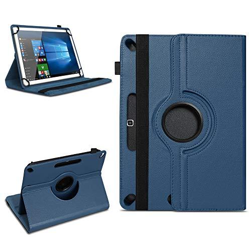 Tablet Tasche für 10-10.1 Zoll Hülle Schutzhülle Hülle Cover 360° Drehbar Neu, Farben:Blau, Modell:ARCHOS 101b Xenon