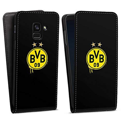 DeinDesign Flip Case kompatibel mit Samsung Galaxy A8 Duos 2018 Tasche Hülle Sterne Borussia Dortm& BVB