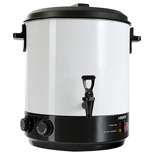 AREBOS Einkochautomat 1800 W / 28L / Inkl Timer und Thermostat/Dauerbetrieb & Abschaltautomatik/Zeituhr bis 120 Minuten/Temperatur von 30-110°C