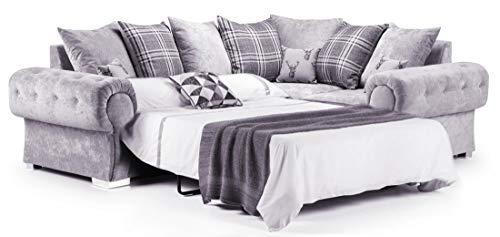 Honeypot - Sofa - Verona - 2C2 Corner Sofabed - 2C1 Corner Sofabed - 3 Seater Sofabed - Grey (Right Hand Corner Sofabed)