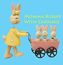 Blossom Bucket Easter Momma Bunny with Bunny Carriage