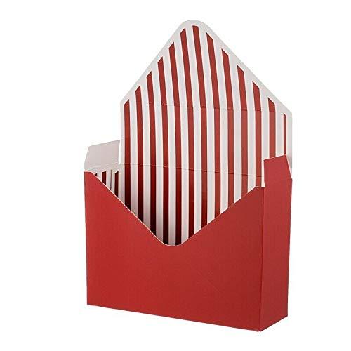 Fltaheroo 12 Piezas Caja de Flores Plegables sobre Papel Envoltura Floral Cajas de Regalo de Boda para Fiestas-Color Vino Rojo