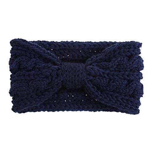 Turbantes Headband Diademas para Mujer Turbantes Bandana Ancha De Tejido Diadema Cálido Anudado Crochet Turbante Accesor