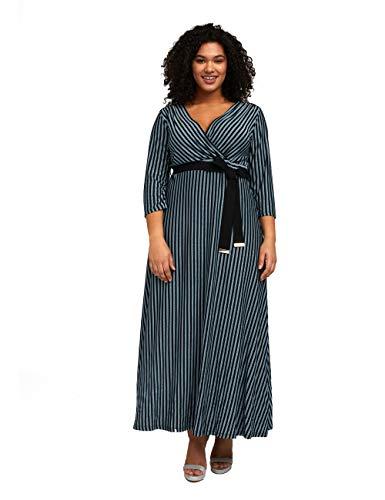 Fiorella Rubino : Vestito Lungo a Righe Nero XL Donna (Plus Size)