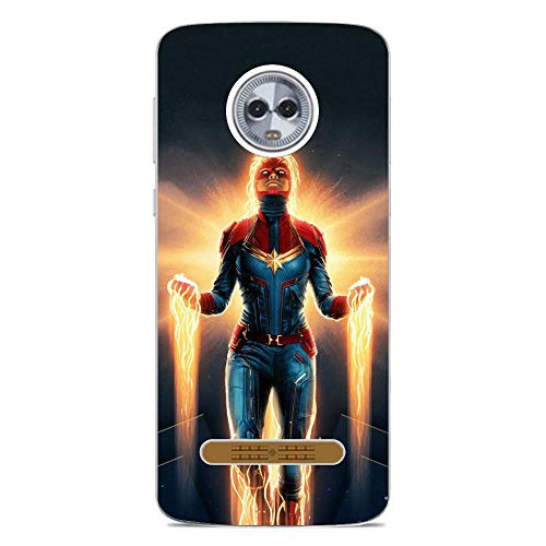 Beautyhouse Case For Moto Z3 Play, Marvel-MV 5 Clear Transparent Slim Soft TPU Shockproof Protective Cover