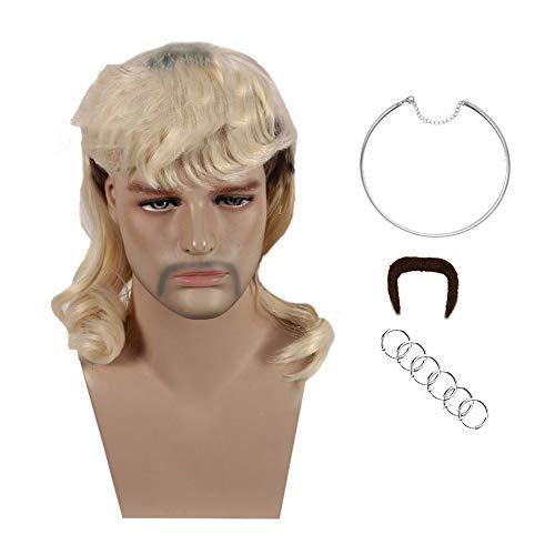 Peluca extica de Joe King Wig para Hombre para Disfraz de Cosplay de Halloween