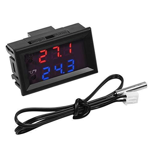 Interruptor de termostato Boaby DC12/24V XD-2048 Controlador de temperatura del interruptor del termostato del microordenador LED Digital(D-2048(12V))