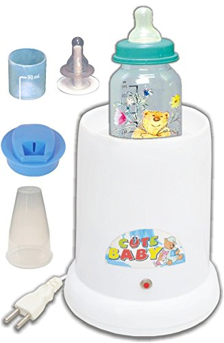 littles paradise CuteBaby Large (4 in1) Instant Bottle Warmer - 1 Slots(White)