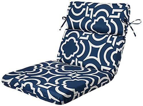 outdoor furniture cushions walmarts Pillow Perfect Outdoor/Indoor Carmody Navy Round Corner Chair Cushion, 40.5