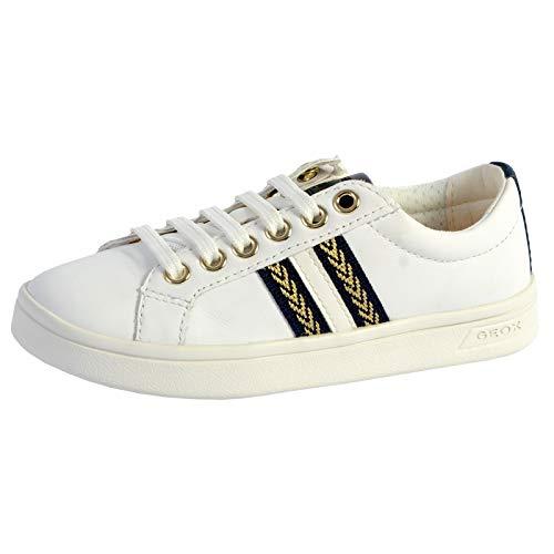 Geox J Djrock Girl H - Zapatillas deportivas para niña, Blanco (White Navy), 32 EU