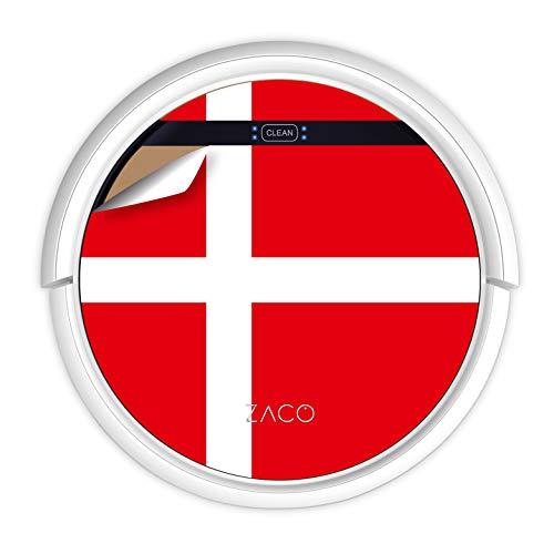 ZACO V5sPro Robot aspirapolvere e lavapavimenti con telecomando, 2in1 Aspira e lava senza fili con stazione, per pavimenti, parquet e tappeti, Aspiratore per peli di animali; bandiera danese