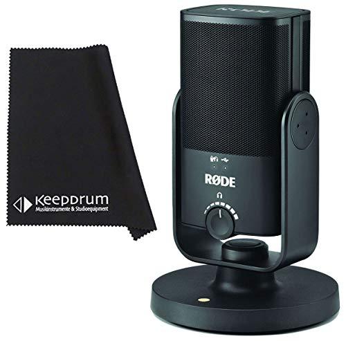 Rode NT-USB - Microfono a condensatore USB con panno in microfibra Keepdrum