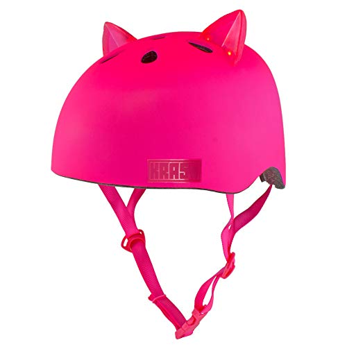 Krash! Bright Meow LED Pink Youth 8+ Helmet
