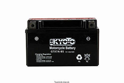 BATTERIE KYOTO SYM FIDDLE 50 II 2008-2014 (YTX7A-BS)
