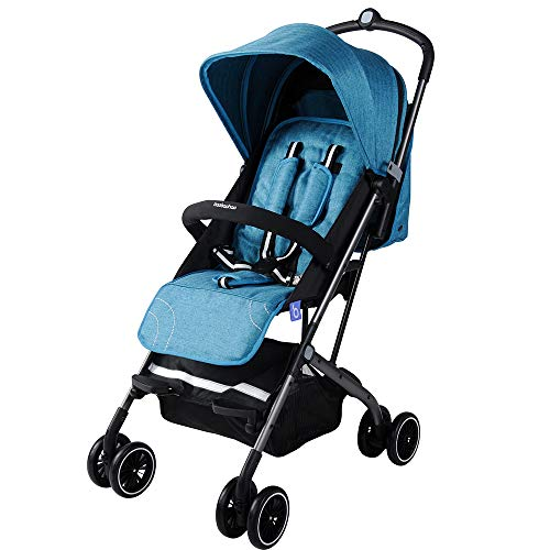Learn More About WANGLXST Baby Stroller, High Landscape Light Foldable Sitting Reclining Baby Carria...