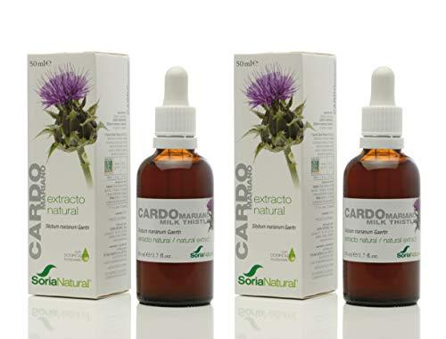 Soria Natural - EXTRACTO DE CARDO MARIANO - Suplemento nutricional - desintoxica y protege el hígado, mejora la digestión y reduce el dolor estomacal (PACK2)