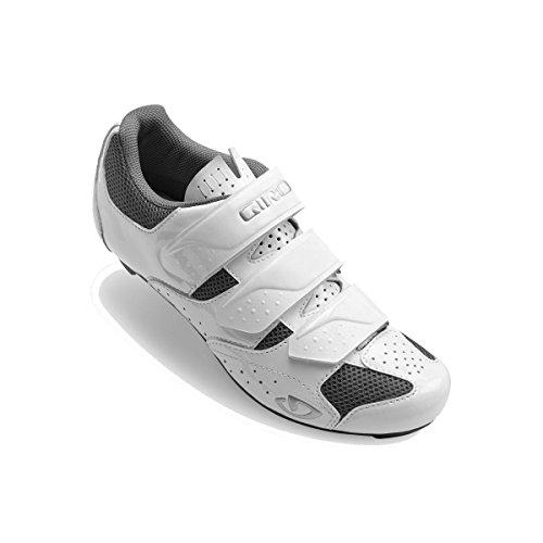 Giro Damen Techne Road Radsportschuhe - Rennrad, Mehrfarbig (White/Silver 000), 39 EU