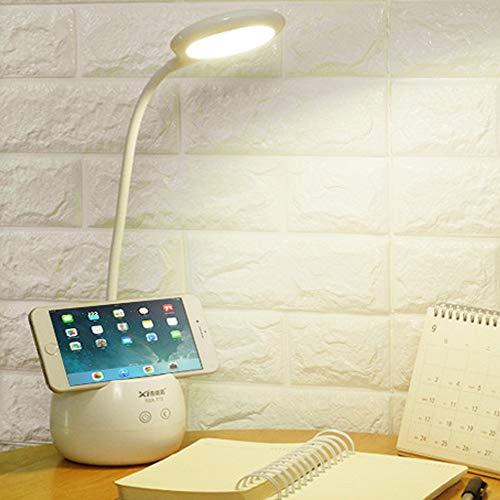 Bainuojia Regulable LED lámpara de Escritorio, Noche Lámpara de Mesa con Cuello de Cisne, lámpara de Mesa con Touch Quemador para 3Niveles de Intensidad, Blanco [Clase energética A + +]