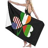 zhengshaolongG Toalla de baño Beach Towels Bulgarian Irish American Shamrock Bath Towels For Teen Girls Adults Travel Towel Washcloth 31x51 Inches