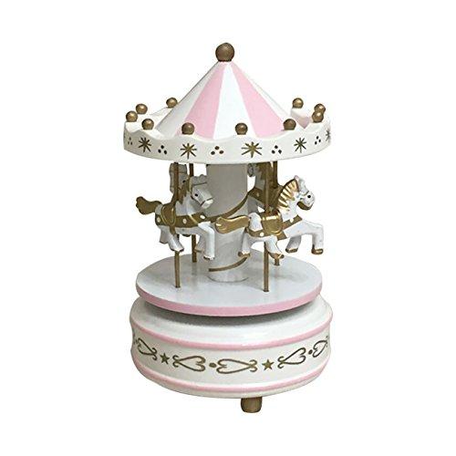 Thee - Carillon in legno, decorazione per la casa BIANCO-ROSA