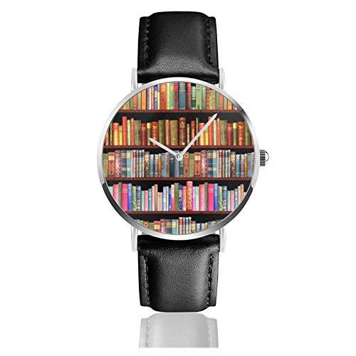 Antike Bücher Jane Austen Mehr Uhr Quarzwerk Wasserdichtes Leder Uhrenarmband Für Männer Frauen Einfache Business Casual Uhr