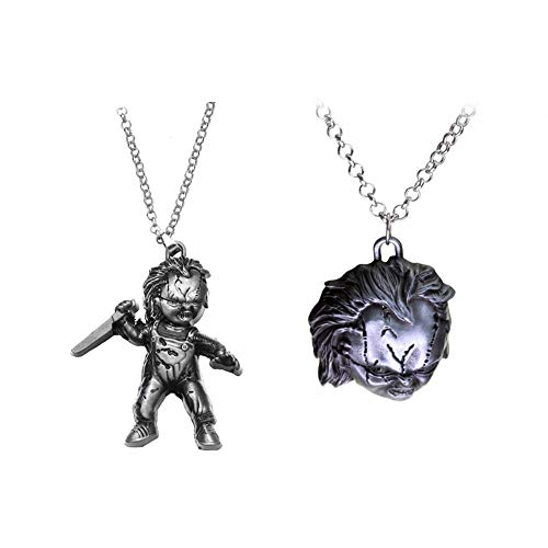 Winssi Child's Play Curse of Chucky Necklace for Fans Cosplay Costume Jewelry (Anti Silver)