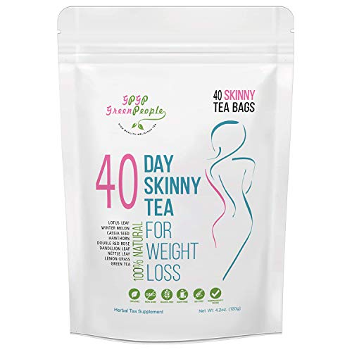 Detox Tea Diet Tea for Body Cleanse - 40 Day Weight Loss Tea, Natural Ingredients, Green People Skinny Tea for Slim, Belly Fat (40days)