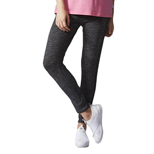 adidas Originals Leggings para Mujer con 3 Rayas, Gris Oscuro, Talla XS