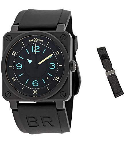 Bell & Ross Instruments BR0392-IDC-CE/SRB Reloj para hombre con esfera negra