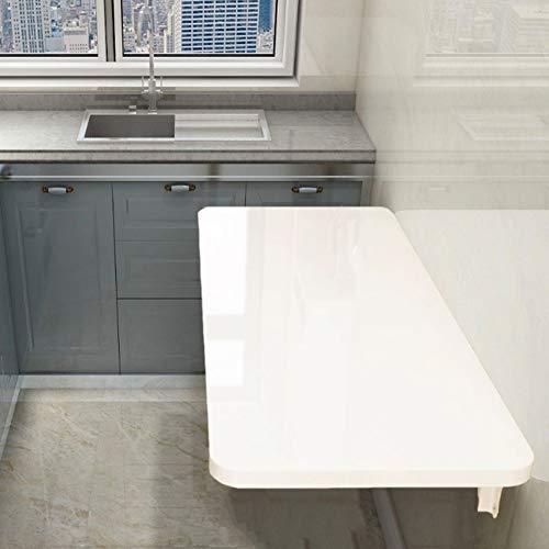 Wandklapptisch Klapptisch, weißer Kleiner Küchentisch, unsichtbarer Laptop-Schreibtisch/Werkbank, Metallständer (21 Größen)