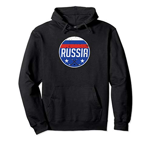 Russia Ice Hockey Flag Jersey Supporter Soviet Fan Gift Pullover Hoodie